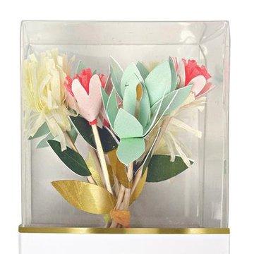 Meri Meri - Zestaw do babeczek Bukiet kwiatów