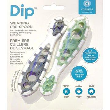 CogniKids Dip® 2 Sensoryczne łyżeczki do nauki samodzielnego jedzenia Slate & Sage COGNIKIDS