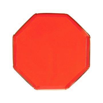 Meri Meri - Małe talerzyki Oktagonalne czerwone