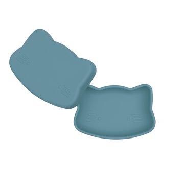 Zamykany silikonowy pojemnik Kotek We Might Be Tiny - Blue Dusk