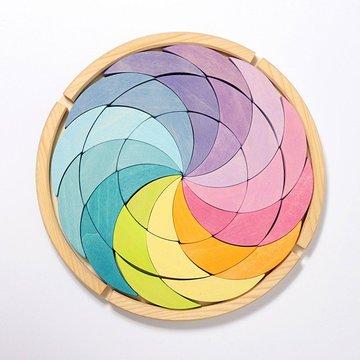 Drewniana układanka, Pastelowa Spirala, Grimm's