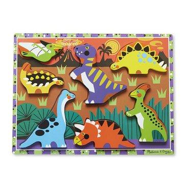 Melissa&Doug® - Melissa, Układanka drewniana – Dinozaury