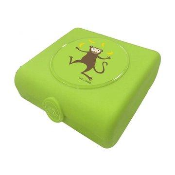 Carl Oscar Kids Sandwich Box Pojemnik na przekąski i kanapki Lime - Monkey CARL OSCAR