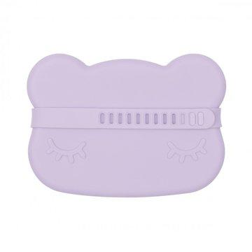 Zamykany silikonowy pojemnik Miś We Might Be Tiny - Lilac