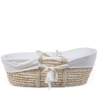 CHILDHOME - Pokrowiec do kosza mojżeszowego Jersey Off White