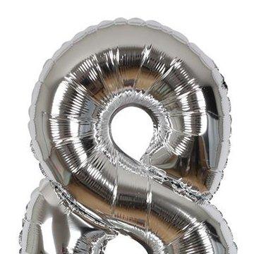 Meri Meri - Balon Cyfra 8 Srebrny