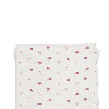 Baby Bites Pieluszka muślinowa 120 x 120 cm Pink Clouds White BABY BITES