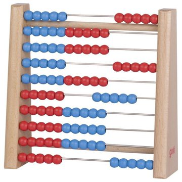 Goki® - Drewniane liczydło (czerwono-niebieskie). GOKI-58529