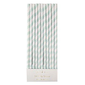 Meri Meri - Mint Striped Straws