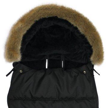 Xplorys - Śpiworek do wózka Dooky Black Furry 6-36m