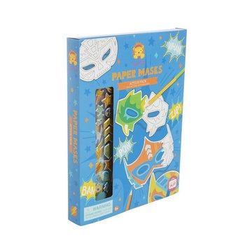 Tiger Tribe® - Maski do samodzielnego zdobienia, zestaw niebieski