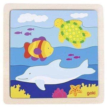 Goki® - Drewniane puzzle Podwodny świat, Goki 57526