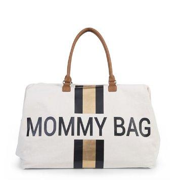 CHILDHOME - Torba Mommy Bag Paski Czarno-Złote