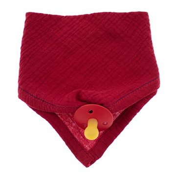 Hi Little One - Śliniak muślinowy bandana z zawieszką na smoczek muslin bandana bibs with pacifire holder Strawberry