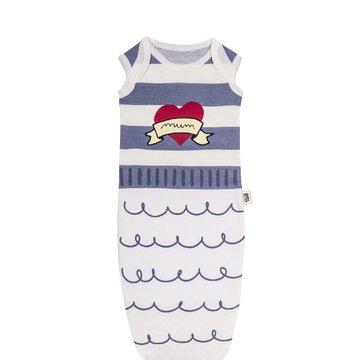 Baby Bites Śpioszki Baby Gown Sailor (0-3 miesięcy) Blue BABY BITES