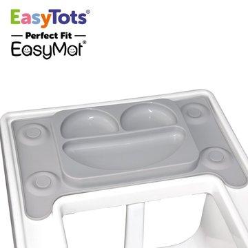 EasyTots - IKEA Perfect Fit EasyMat GREY talerzyk silikonowy z podkładką EASYTOTS