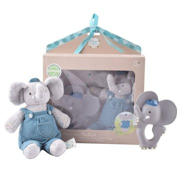 Meiya and Alvin - Meiya & Alvin - Alvin Elephant Organic zestaw Babyshower  z gryzakiem