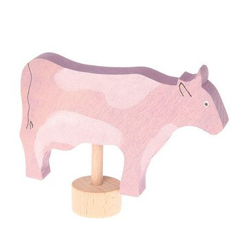 Drewniana figurka, Różowa Krowa, Grimm's