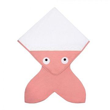 Baby Bites Ręcznik z kapturkiem Rekinek 75 x 75 cm różowy BABY BITES