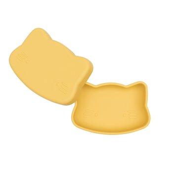 Zamykany silikonowy pojemnik Kotek We Might Be Tiny - Yellow