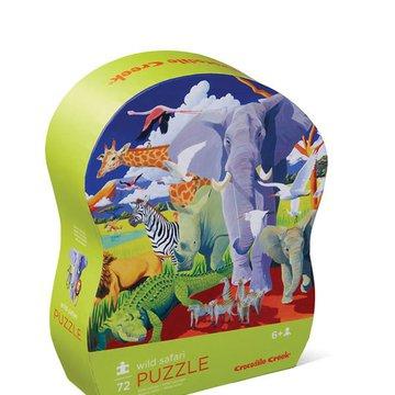 Crocodile Creek® - Puzzle 72 el.,Dzikie safari
