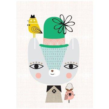 Petit Monkey - Poster Thierry the Bear 42 x 29.7 cm