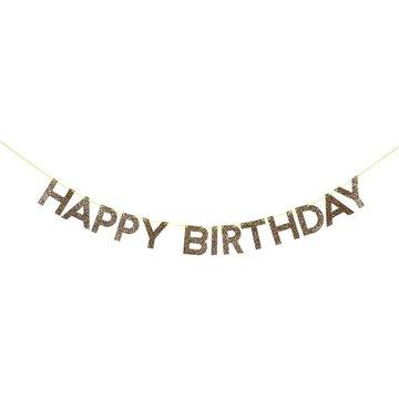 Meri Meri - Girlanda Happy Birthday złota