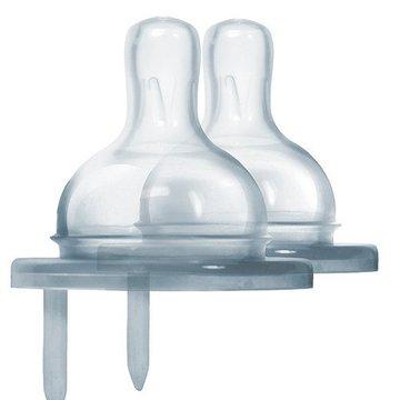 Smoczek dla niemowląt 2 szt., wolny przepływ (0m+), do butelek, Pura