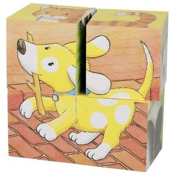 Goki® - Klocki sześcienne małe zwierzęta