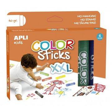 Farby w kredce XXL Apli Kids - 6 kolorów
