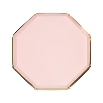 Meri Meri - Małe talerzyki oktagonalne różowe
