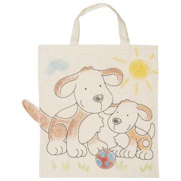 Goki® - Bawełniana torba z pieskami do kolorowania, Goki