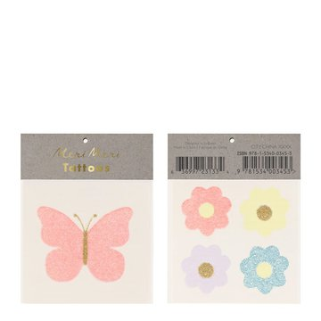 Meri Meri - Tatuaże Motyl i kwiaty