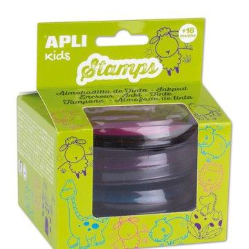 Zestaw tuszy do stempli Apli Kids - Różowy/Fioletowy/ Niebieski