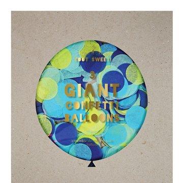 Meri Meri – Balon gigant Konfetti niebieskie