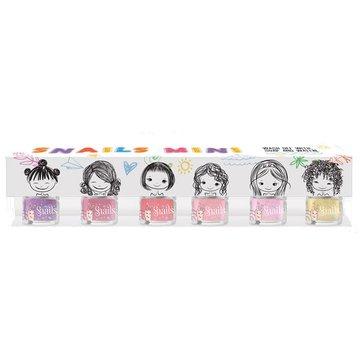 Zestaw 6 lakierów do paznokci dla dzieci Snails Mini