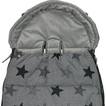 Xplorys - Śpiworek do wózka Dooky Grey Stars 6-36m