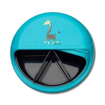 Carl Oscar Rotable SnackDISC™ 5 komorowy obrotowy pojemnik na przekąski Turquoise - Giraffe CARL OSCAR