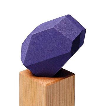 Bryły geometryczne 1+, naturalny, niebieski, Grimm's