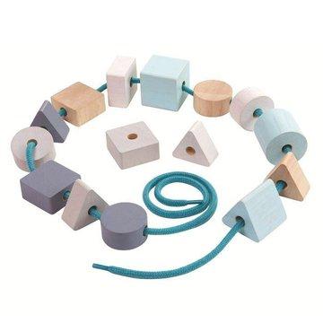 Pastelowa nawlekanka z klocków, Plan Toys 5381