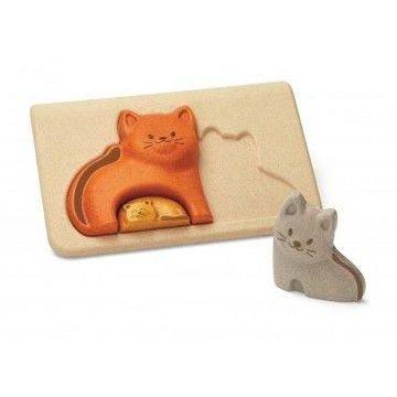 Koty - Puzzle drewniane, Plan Toys