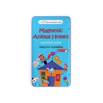 Gra magnetyczna The Purple Cow - Puzzle Zwierzęta i ich domy