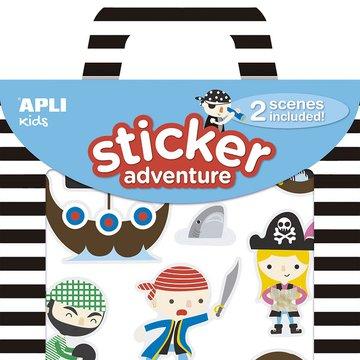 Zestaw naklejek z 2 planszami Apli Kids - Piraci