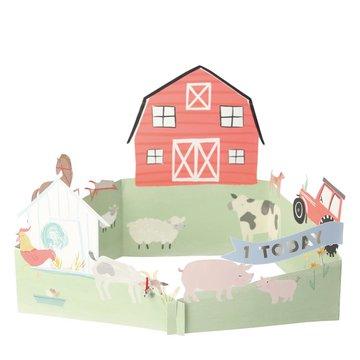 Meri Meri - producent niezdefiniowany - Kartka okolicznościowa 3D Farma