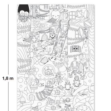 Gigantyczny plakat do kolorowania Apli Kids - Magiczny las