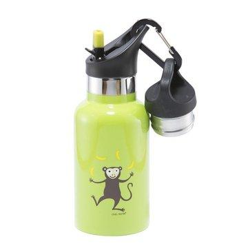 Carl Oscar TEMP Bottle - Butelka termiczna ze słomką ze szlachetnej stali nierdzewnej Lime - Monkey CARL OSCAR