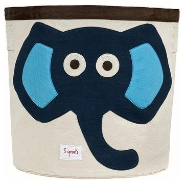 3 Sprouts Kosz Na Zabawki Słoń Niebieski