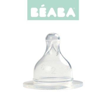 Beaba Zestaw 2 smoczków do butelek szerokootworowych, szybki przepływ, kaszka 18m+