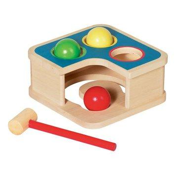 Goki® - Drewniana przybijanka z piłkami i młotkiem, GOKI-58864