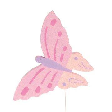 Drewniana figurka, Motylek, różowy, Grimm's